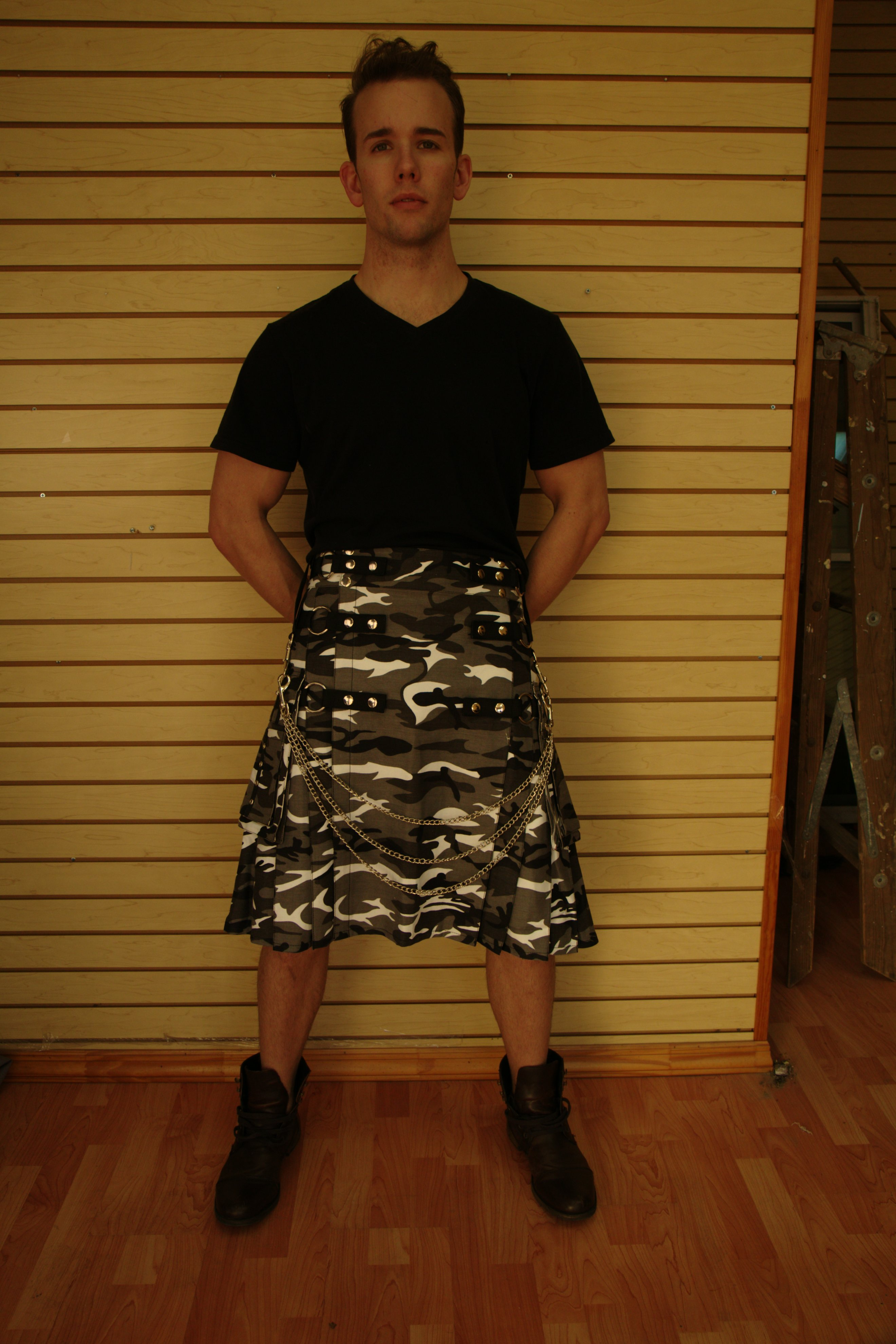 The Urban Camo Utility Kilt isn't purely fashionable although it's very stylish.