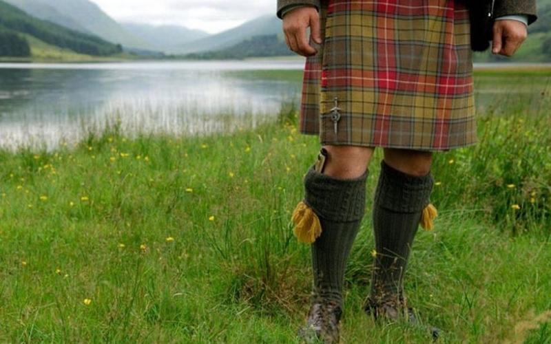 Scottish kilts.