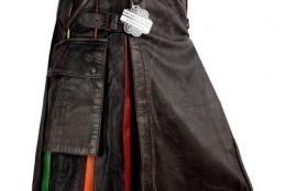 Pride Kilt- Waxed Leather Kilt
