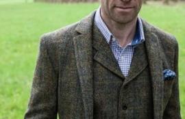 Harris Tweed Jacket in Brown Check