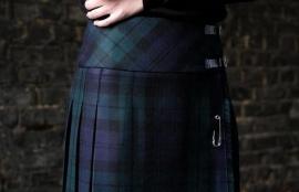 Fashion Kilt in Black Watch Tartan