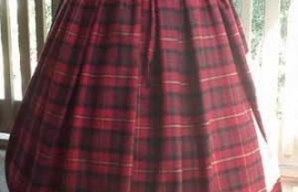 Lady Morrigan's Tartan Wool Skirt