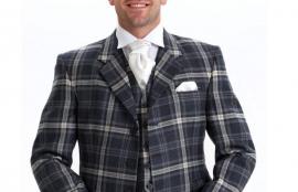 Argyle Jacket with 5 Button Waistcoat kilt outfit, with 8 Yard Kilt
