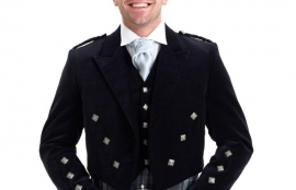 Custom Prince Charlie Outfit with 5 Button Waistcoat and 8 Yard Kilt