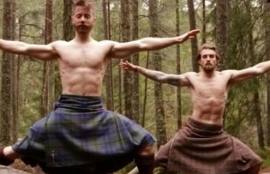 Buff Blokes Doing Yoga In Nothing But Kilts Is Going Mad Online
