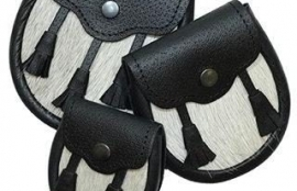 Boys Semi Dress Sporran with Leather Tassels